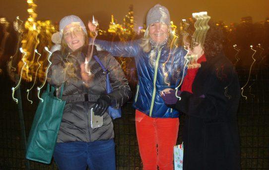 Jenn, Jo and Nikki–Central Park at night