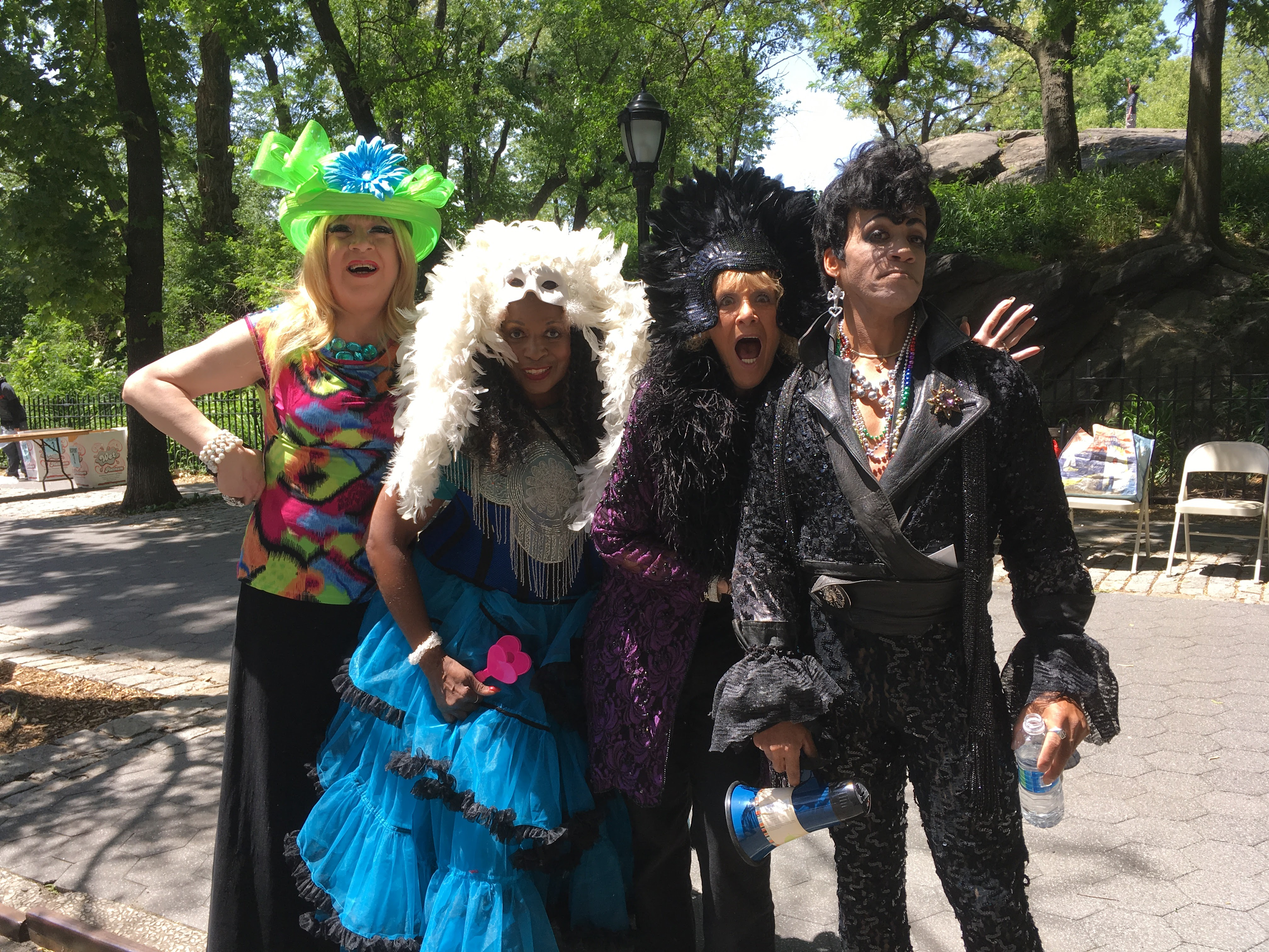 Clover, Miriam and Anne Marie with Prince (Billy) at AIDS Walk New York