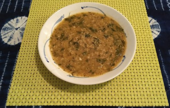 Red Lentil with Greens Soup