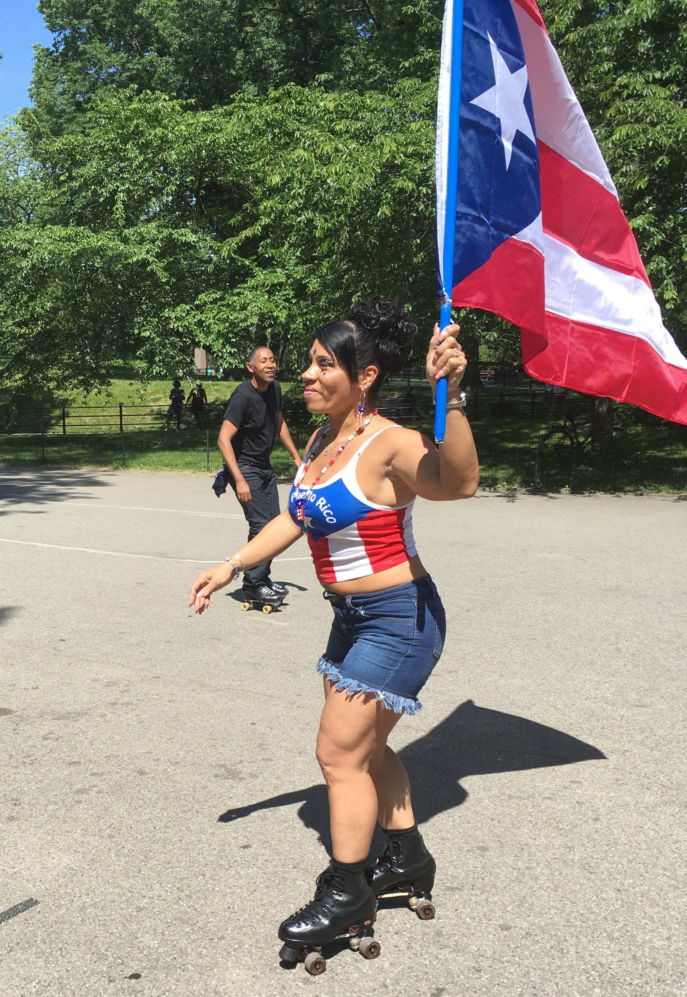 Marilyn, proud mom and daughter of Puerto Rican immigrants, Central Park