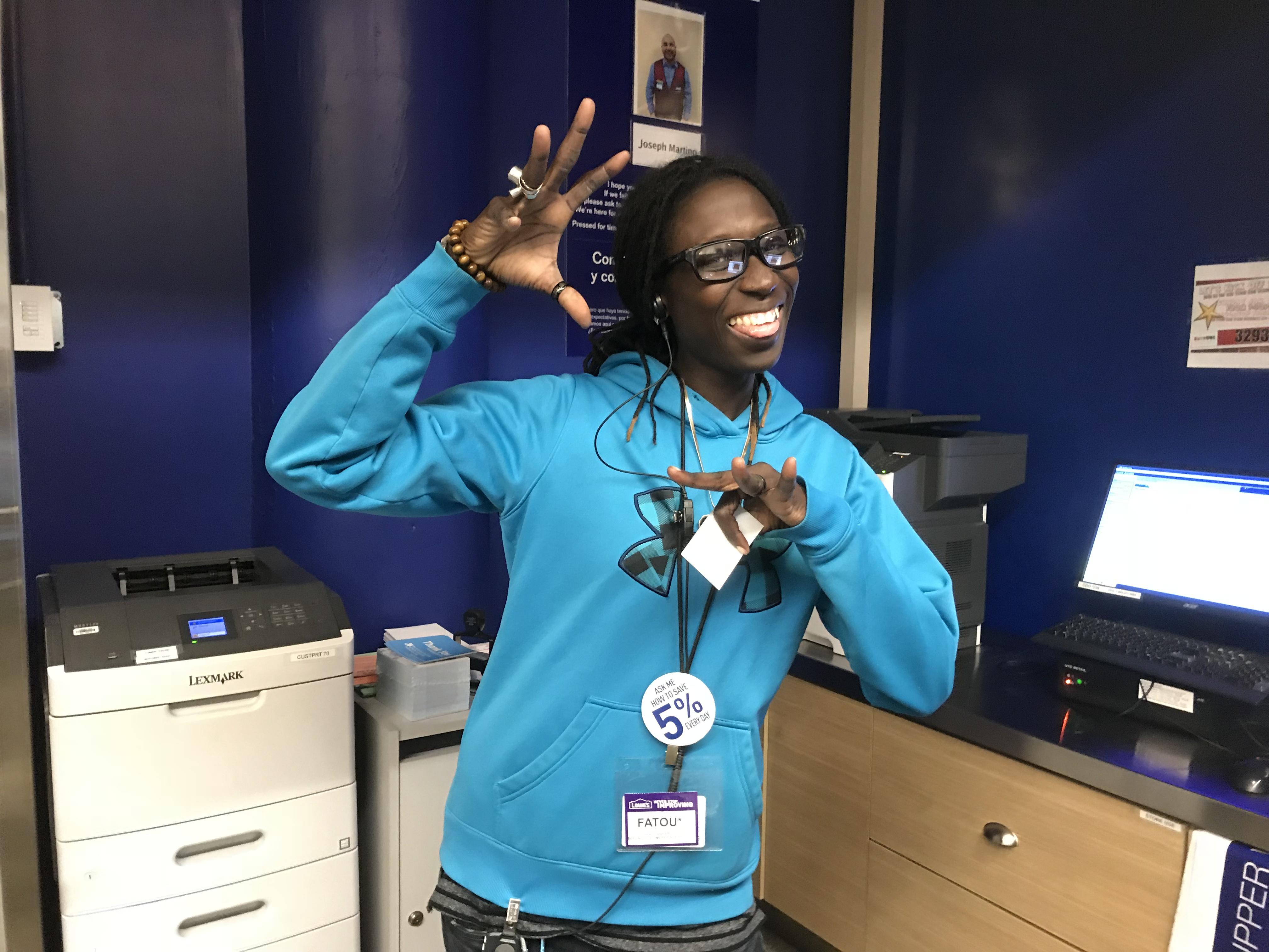 Fatou, Customer Service extraordinaire, Chelsea