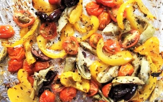 Roasted Vegetable Salad—Mediterranean Style