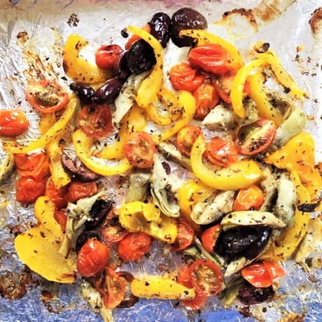Roasted Vegetable Salad—Mediterranean Style