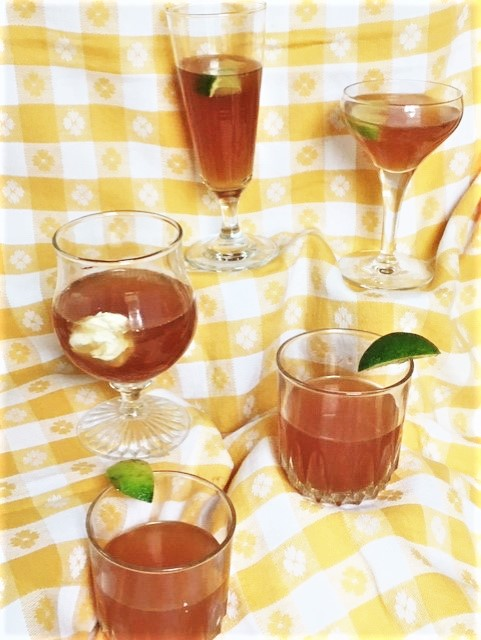 BLACK CHERRY- LIME SHRUB From ancient potable to kiddie aperitif